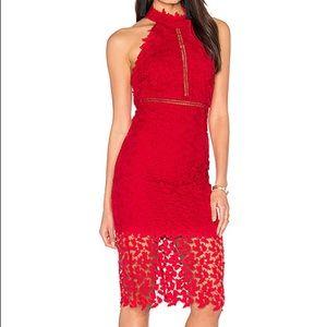Bardot Red Gemma Dress Lacey sexy wedding guest